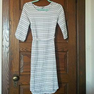 DownEast Striped Gray White Dress XS